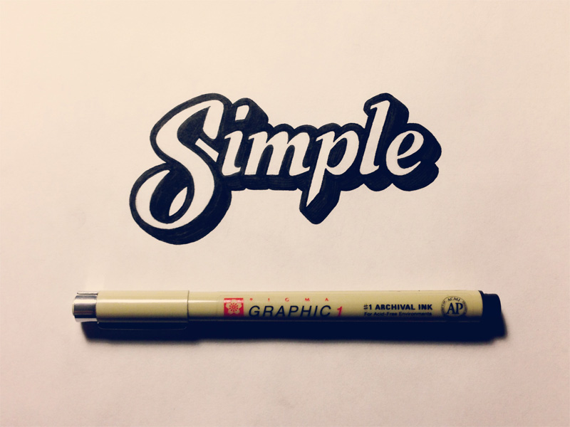 Simple is good! In fact it's great...